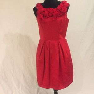 Taylor red dress size 8